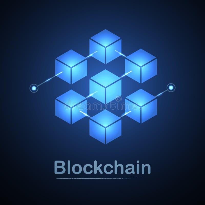 Blockchain技术fintech cryptocurrency块式链服务器摘要背景 连接信息组包含密码学回锅碎肉和 库存例证