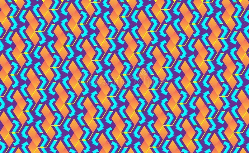 Blockchain概念等量横幅 数字互相和形状隐藏链子的块连接 连接的立方体连接  皇族释放例证