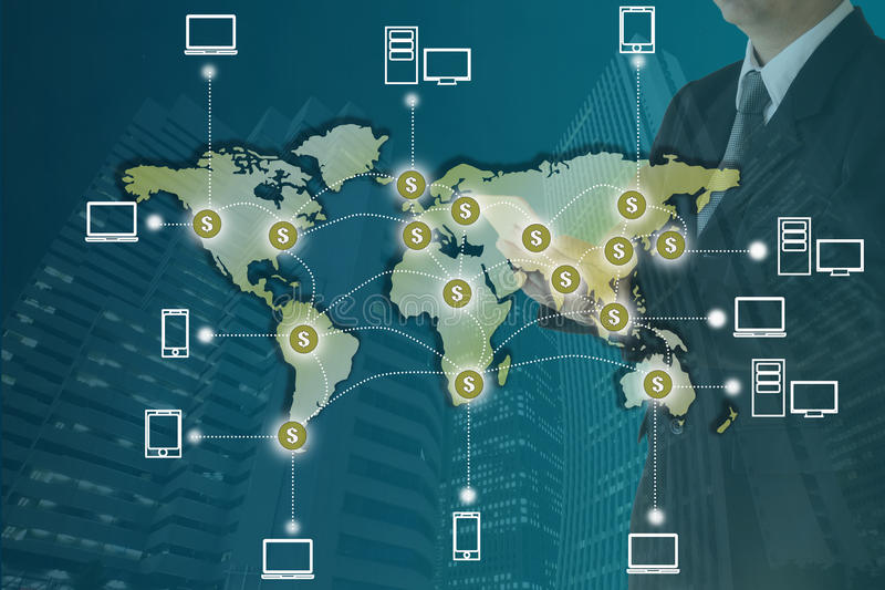 Blockchain概念 向量例证