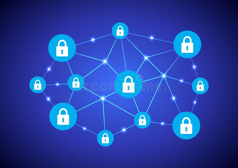 Blockchain网络 库存例证