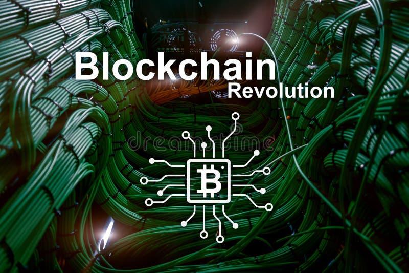 Blockchain革命,在现代事务的创新技术 向量例证