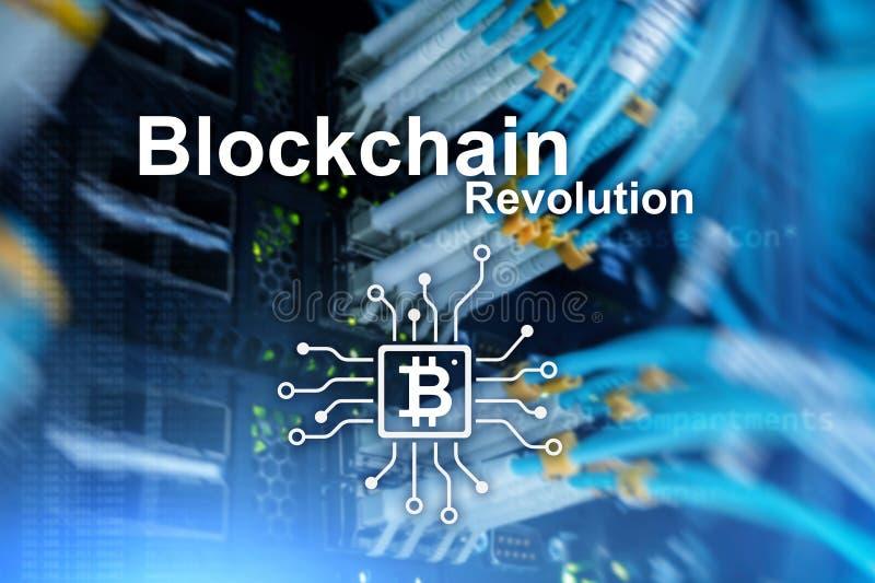 Blockchain革命,在现代事务的创新技术 库存例证