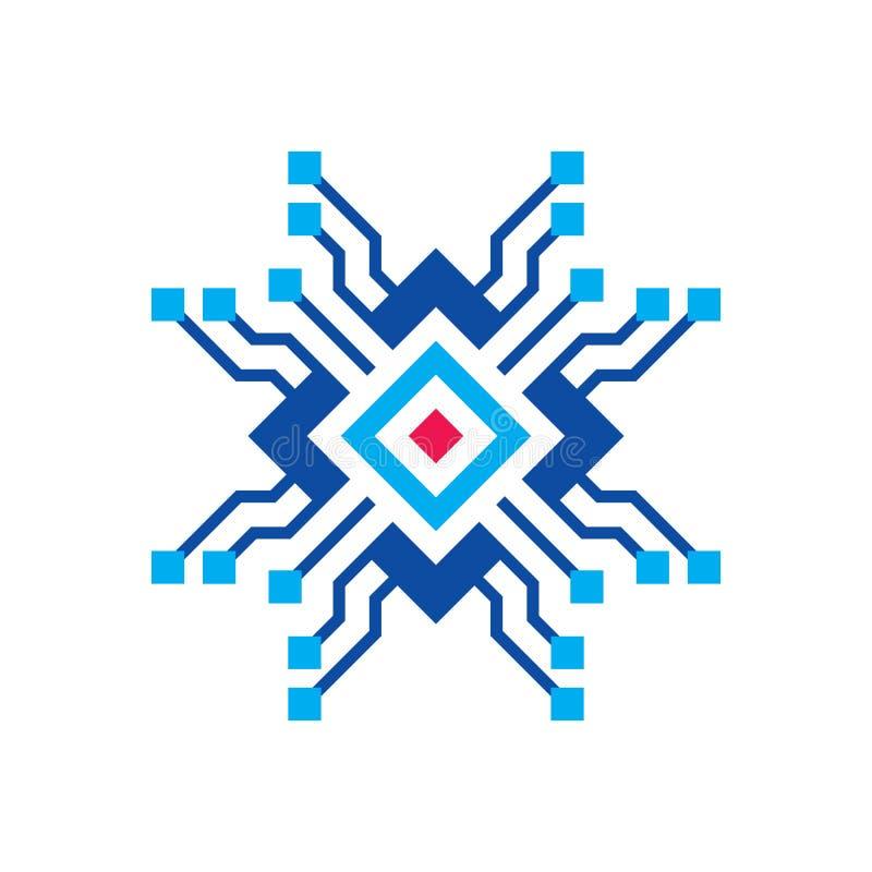 Blockchain - διανυσματική απεικόνιση προτύπων επιχειρησιακών λογότυπων έννοιας Μελλοντικό δημιουργικό σημάδι τεχνολογίας Ψηφιακό  διανυσματική απεικόνιση