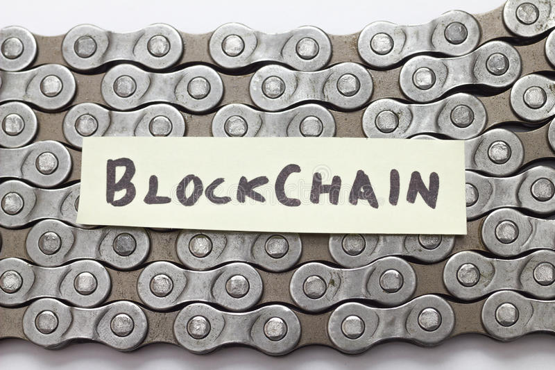 Blockchain concept royalty free stock photo