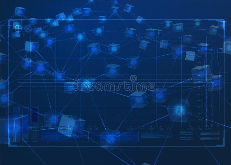Blockchain Data Network stock illustration