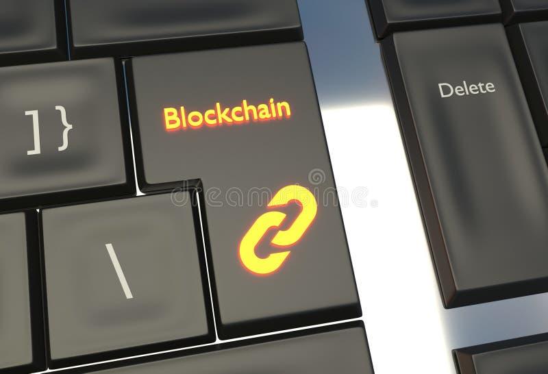Blockchain digital technology - background illustration stock photography