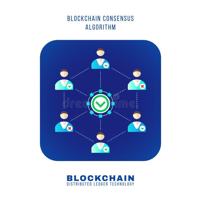 Blockchain a distribué l'illustration de technologie de registre illustration libre de droits
