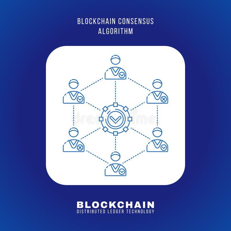 Blockchain a distribué l'illustration de technologie de registre illustration stock