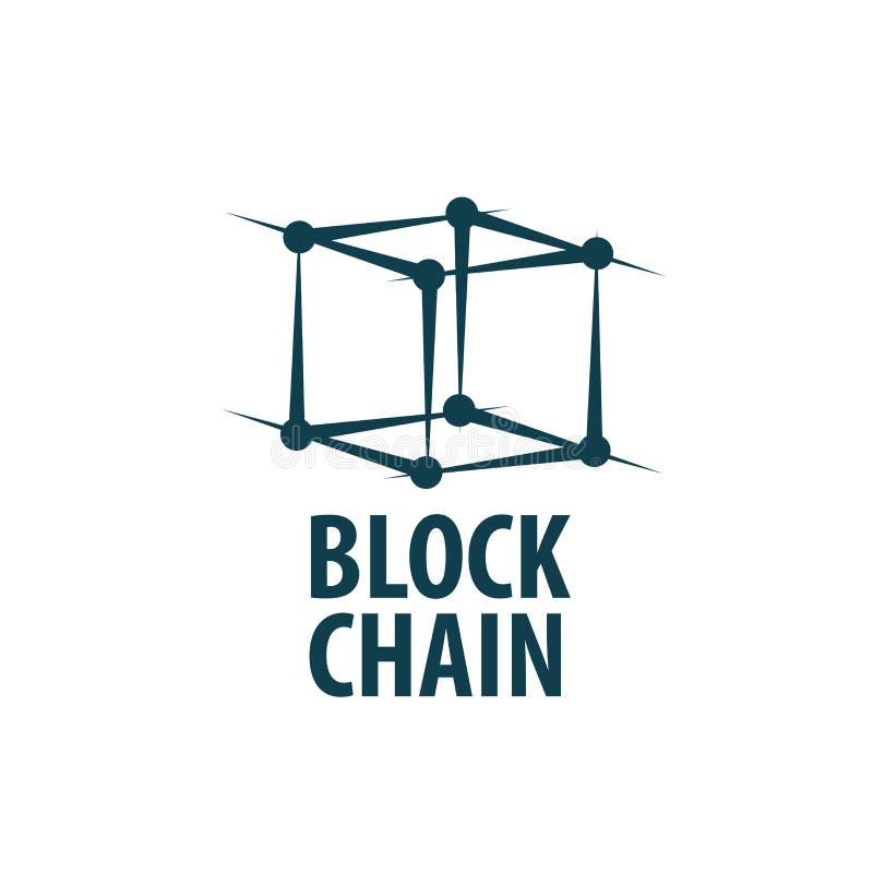 Blockchain do logotipo do vetor ilustração do vetor