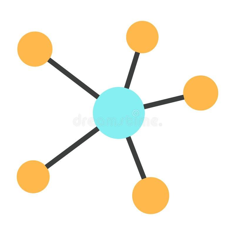 Blockchain-Netz-Linie Ikone Vektor-einfaches minimales Piktogramm 96x96 lizenzfreie abbildung
