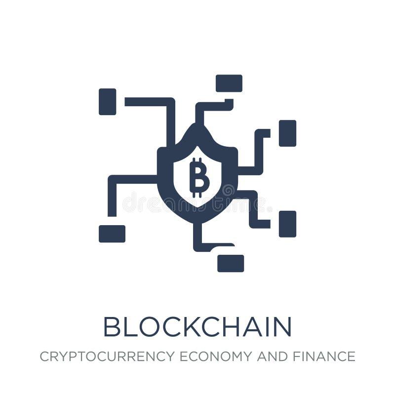 blockchain pictogram  royalty-vrije illustratie