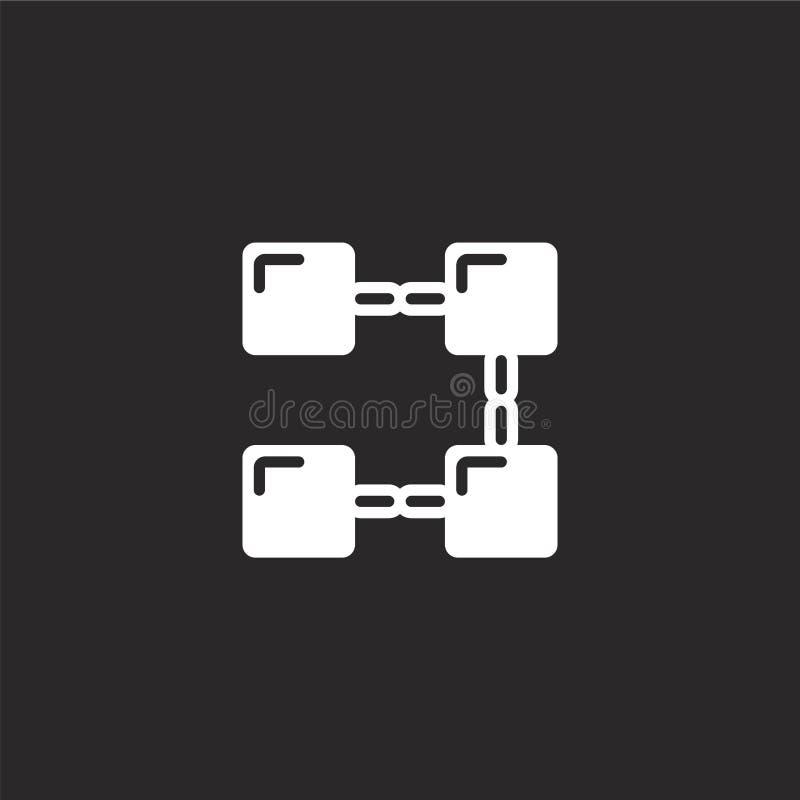 blockchain pictogram Gevuld blockchain pictogram voor websiteontwerp en mobiel, app ontwikkeling blockchain pictogram van gevuld  stock illustratie