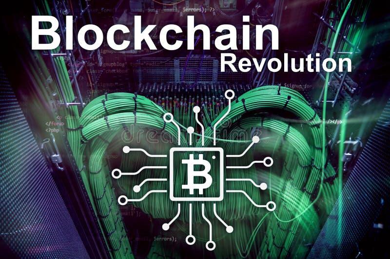 Blockchain revolution, innovation technology in modern business. royalty free stock image