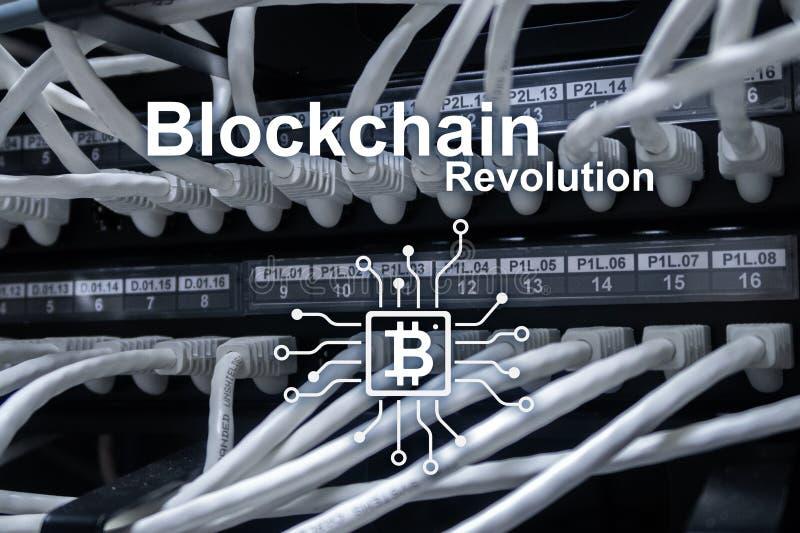 Blockchain revolution, innovationteknologi i modern affär royaltyfri bild