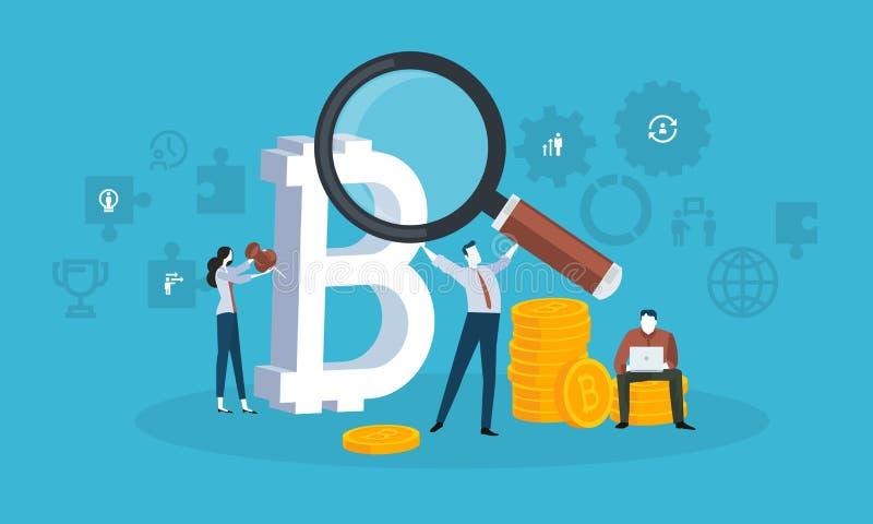 Blockchain technologia ilustracji
