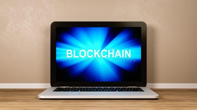 Blockchain-Technologiekonzept lizenzfreie abbildung