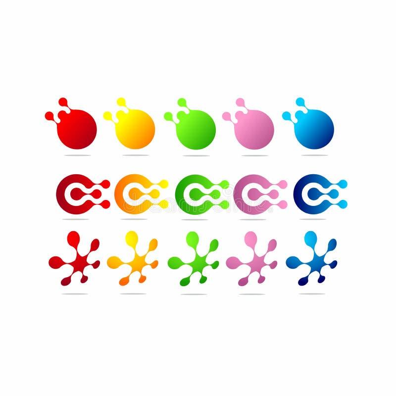 Blockchain technologii ikona Wektorowy blokowego łańcuchu symbol zdjęcie royalty free