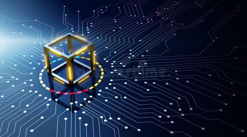 Blockchain technologii pojęcie ilustracji