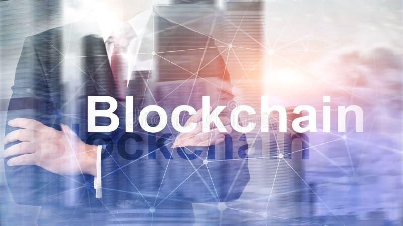 Blockchain technologii poj?cie na serweru tle Dane utajnianie zdjęcia stock
