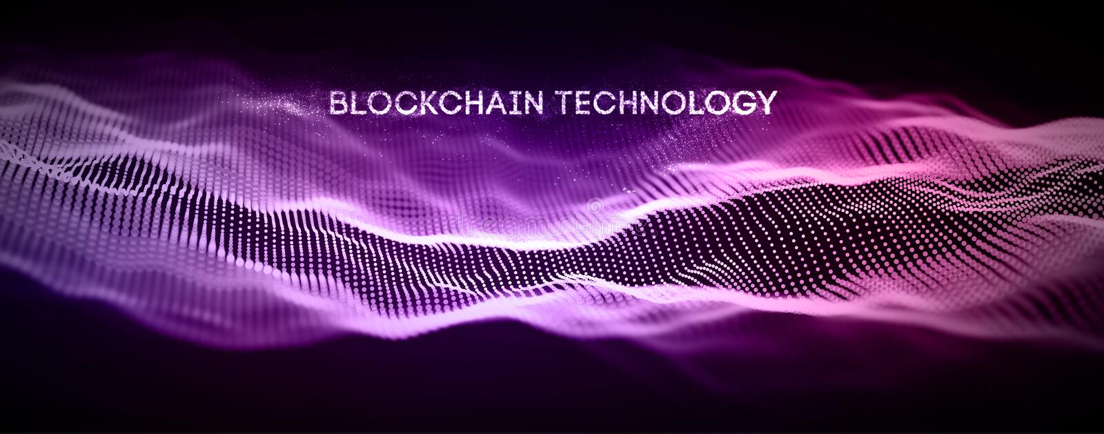 Blockchain technology background. Cryptocurrency fintech block chain network and programming concept. Abstract Segwit. vector illustration