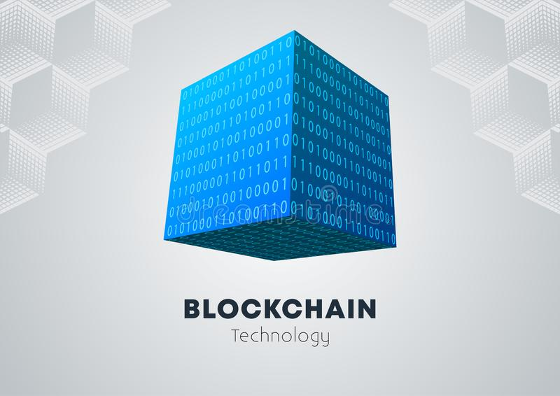 Blockchain technology concept royalty free illustration