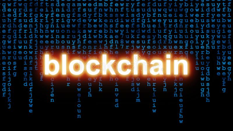 Blockchain Technology Concept stock illustration