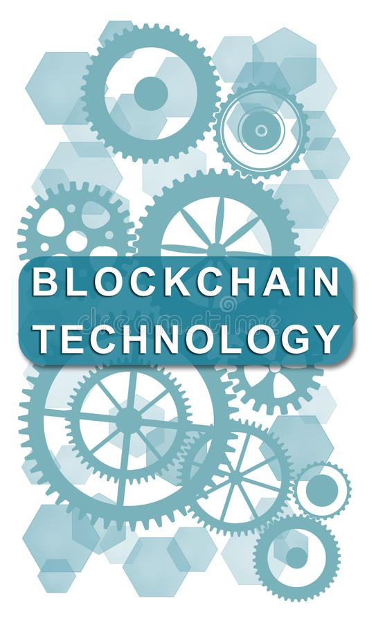 Blockchain technology concept on white background stock photography