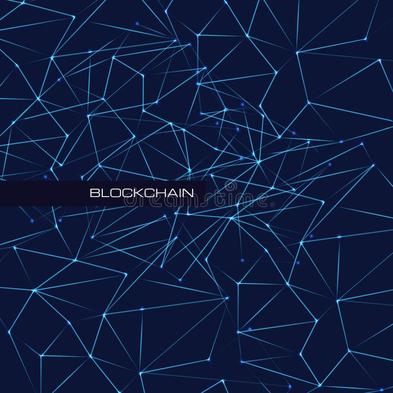 Blockchain technology database data cryptocurrency business digital finance bitcoin network currency mining background vector illustration