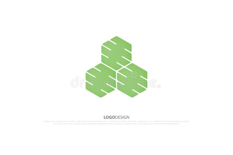 Blockchain technology icon. smart contract block isolated sign royalty free illustration