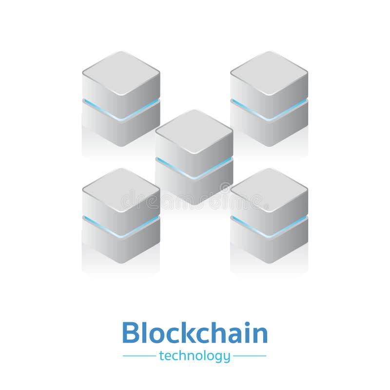 Blockchain technology vector III. Blockchain technology cryptocurrency block vector royalty free illustration