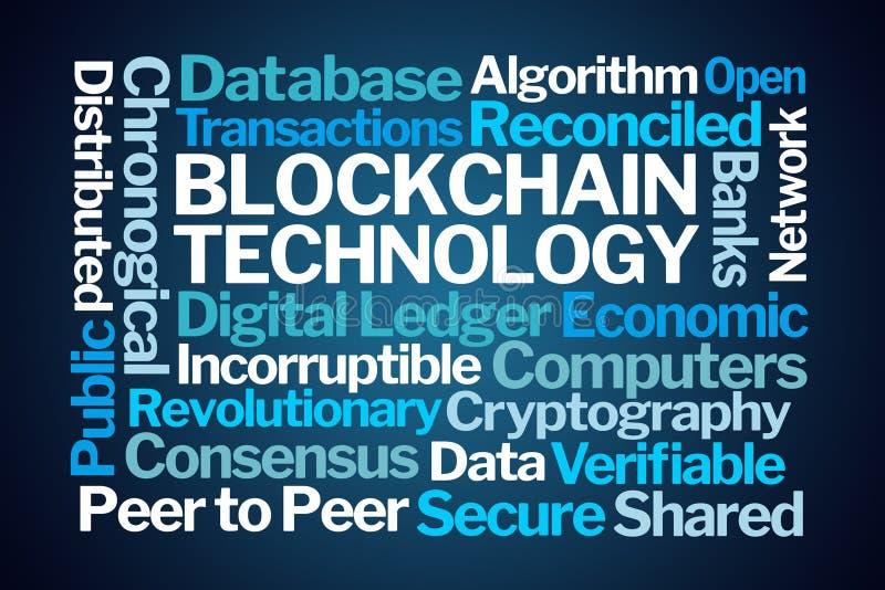 Blockchain Technology Word Cloud vector illustration