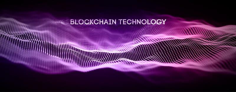 Blockchain teknologibakgrund N?tverk f?r kedja f?r Cryptocurrency fintechkvarter och programmerabegrepp Abstrakta Segwit stock illustrationer