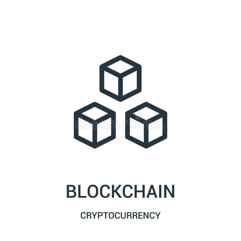 blockchainsymbolsvektor fr?n cryptocurrencysamling Tunn linje illustration f?r vektor f?r blockchain?versiktssymbol stock illustrationer