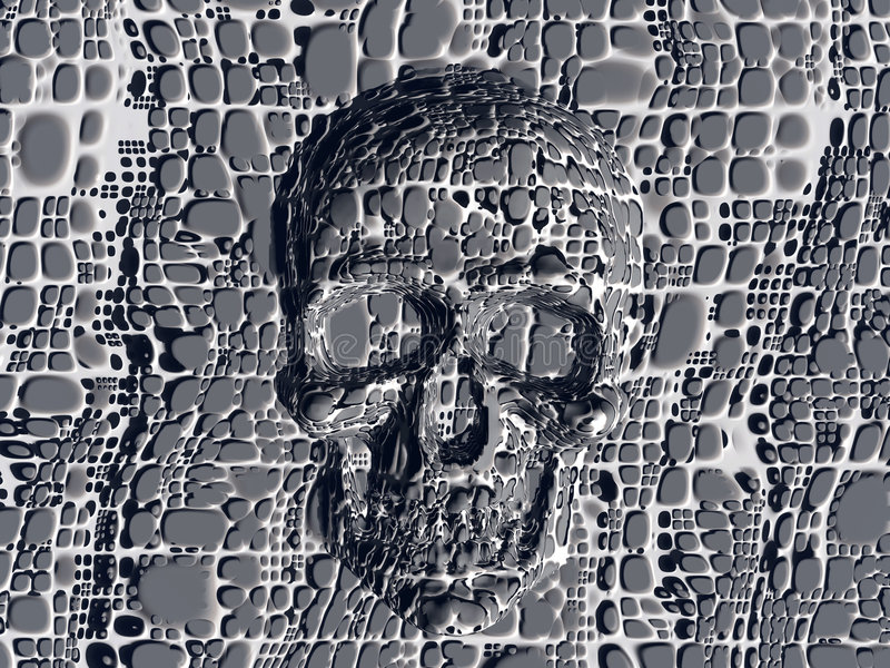 Download Blocked skull. stock illustration. Image of bryce, surreal - 184267