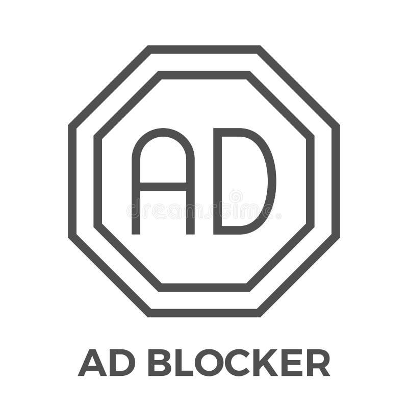 Blocker ΑΓΓΕΛΙΩΝ εικονίδιο ελεύθερη απεικόνιση δικαιώματος