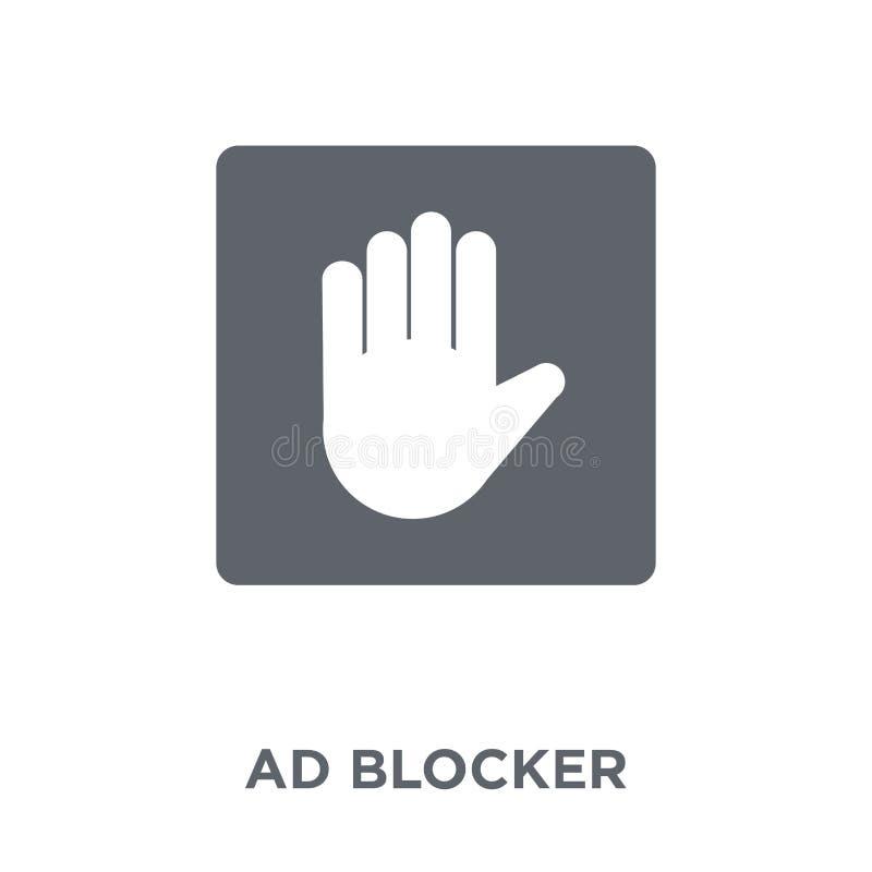 Blocker αγγελιών εικονίδιο από τη συλλογή μάρκετινγκ ελεύθερη απεικόνιση δικαιώματος