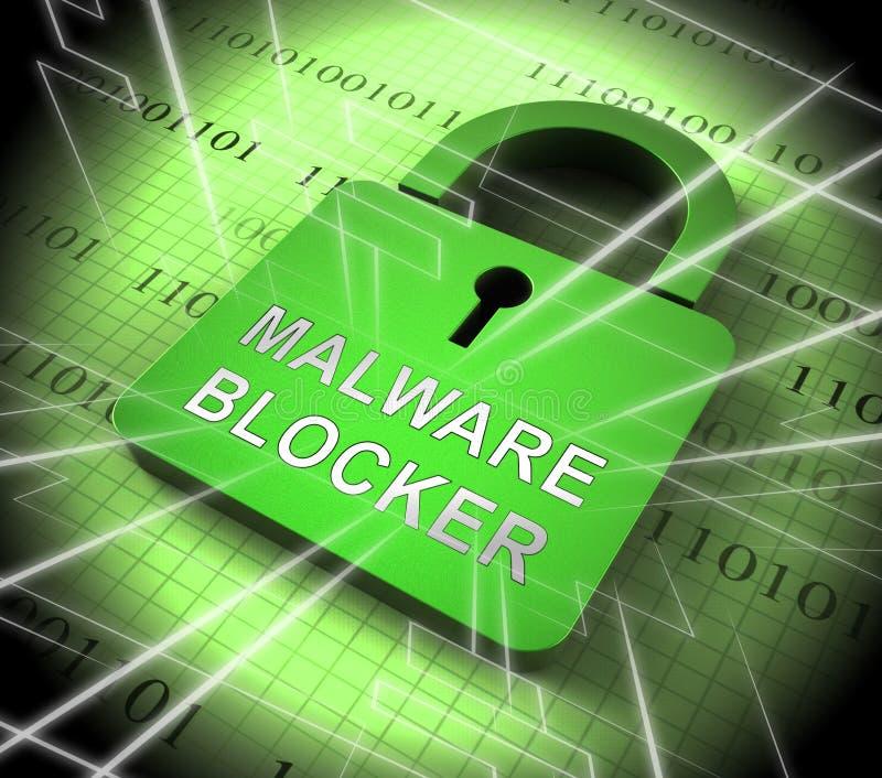 Blocker Malware τρισδιάστατη απόδοση προστασίας ιστοχώρου τρωική απεικόνιση αποθεμάτων