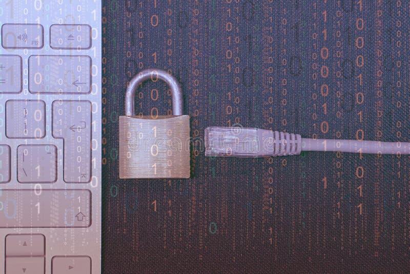 Blockera för internet Närbild fotografering för bildbyråer