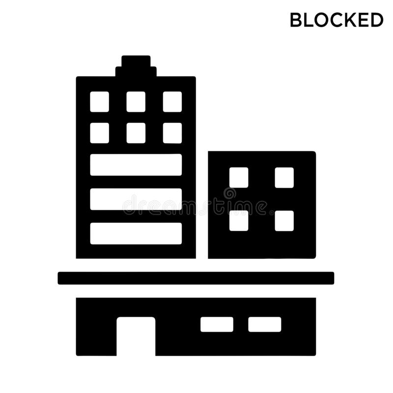 Blockerad redigerbar symbolssymboldesign royaltyfri illustrationer