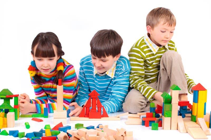 blockerar att leka för barn arkivfoto