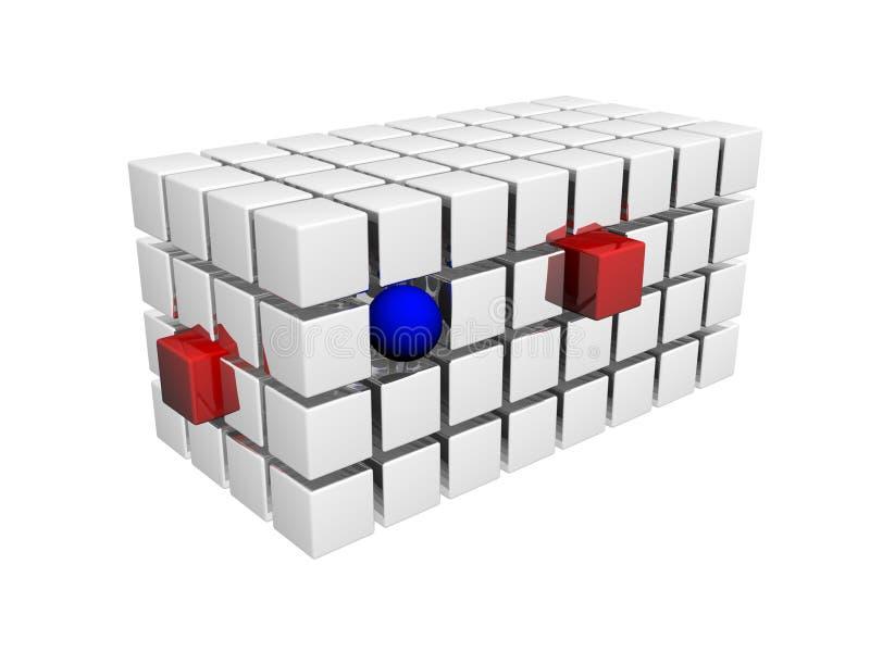 blockerar data vektor illustrationer