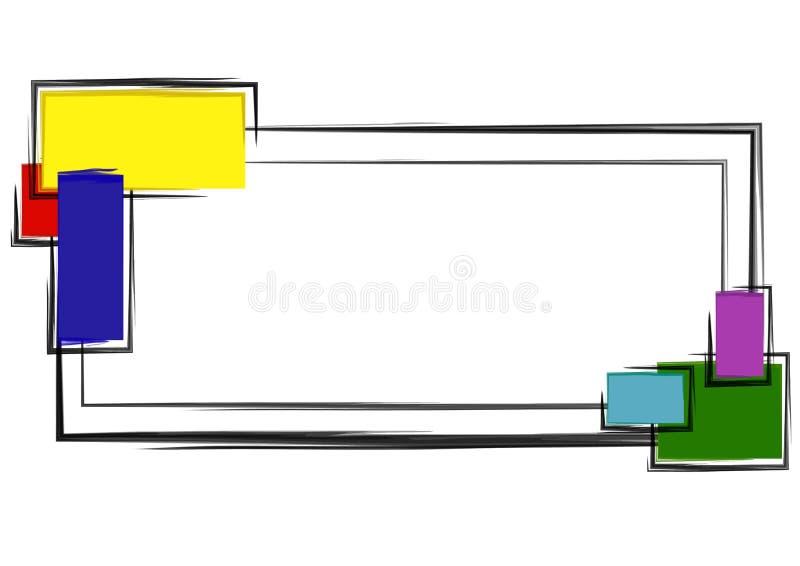 blockerar färgrik logosidarengöringsduk royaltyfri illustrationer