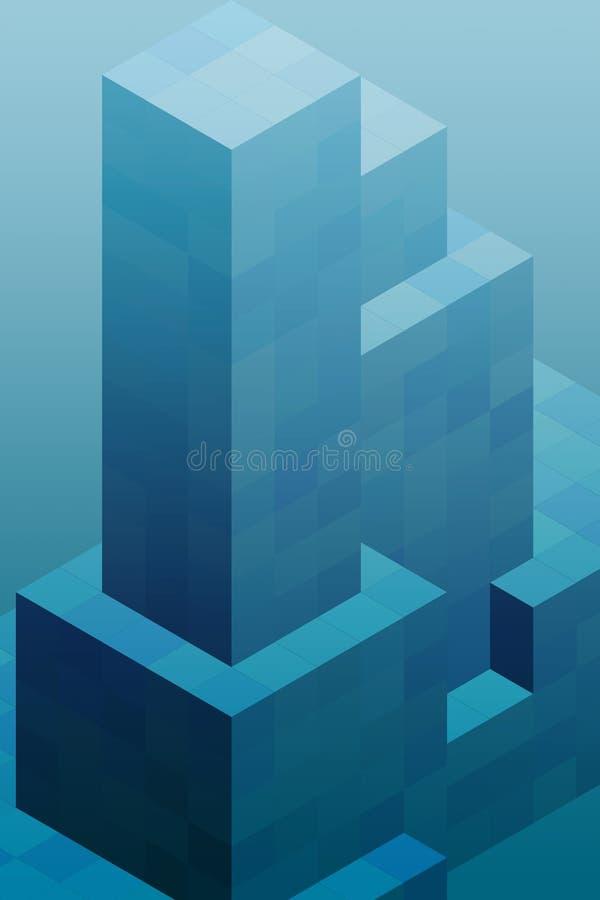 blockerar kubik royaltyfri illustrationer