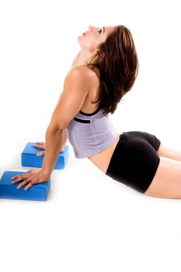 blockerar yoga arkivfoton