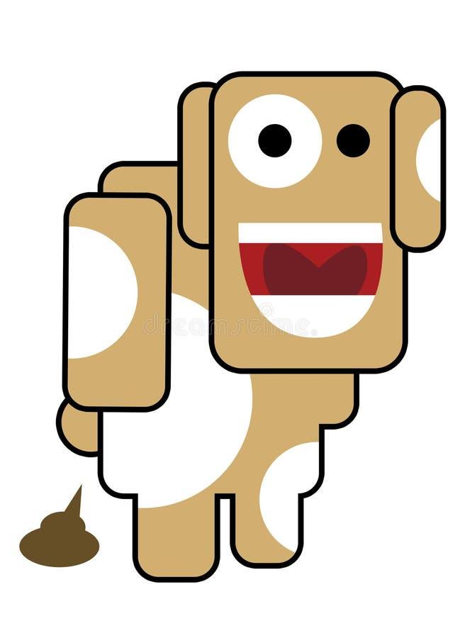 Blockhead dog. Blockhead style dog royalty free illustration