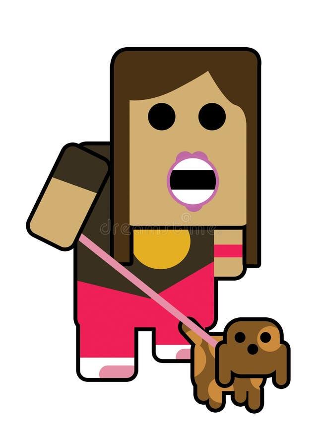 Blockhead it girl royalty free illustration