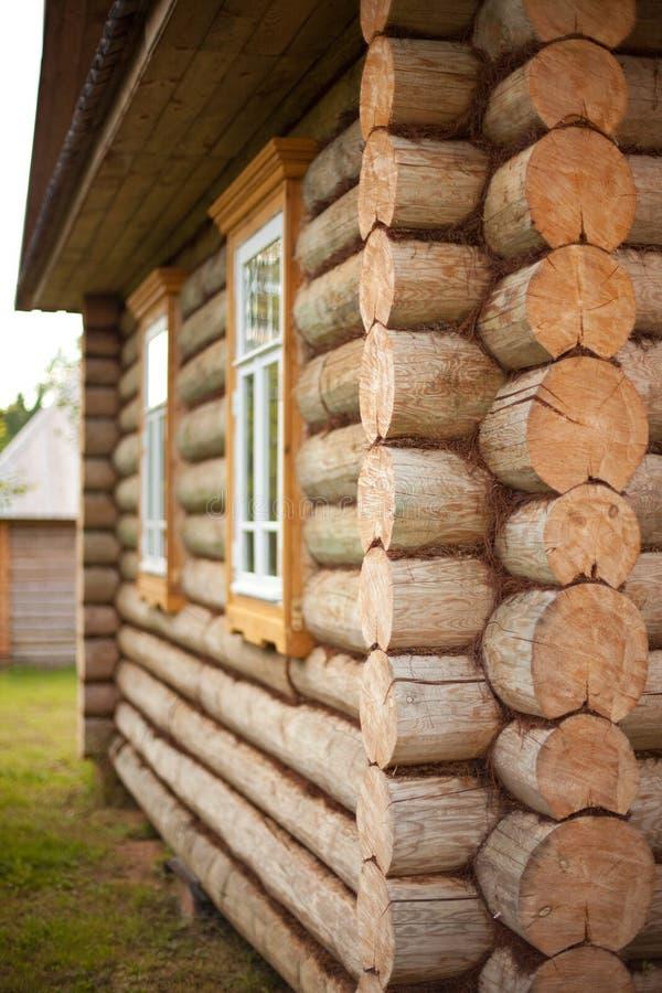 Blockhouse de madeira fotografia de stock