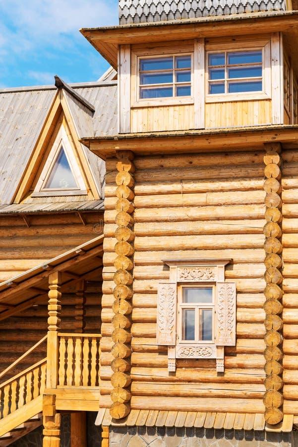 Blockhouse de madeira imagens de stock