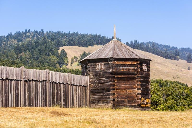 Blockhouse no parque histórico de estado de Ross do forte foto de stock royalty free