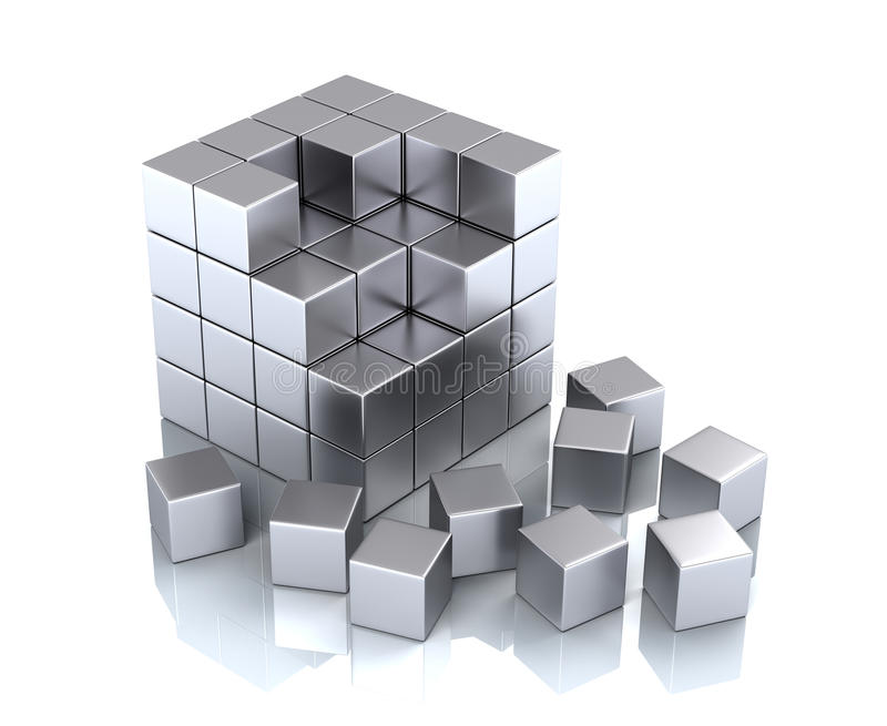 blockkub vektor illustrationer